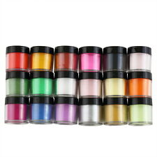 18 Colors Acrylic UV GEL Polish DIY Kit Decorate Manicure Powder Nail Art HS