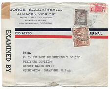 Colombia Censored Commercial Cover Medellin to US Tape 4164 1942 Sc 469 C128 RA4