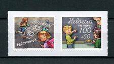Switzerland 2016 MNH Pro Juventute School Days 2v S/A Set Education Stamps