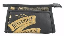 Harry Potter Marauder's Map Mischief Managed Cosmetic Make Up Bag New with Tags