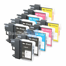 10 PACK LC65 Ink Set for Brother MFC-5890CN MFC-5895CW MFC-6490CW MFC-6890CDW