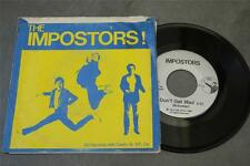 "IMPOSTORS  Don't Get Mad private SF PUNK '80 7"" w/ pic sleeve"
