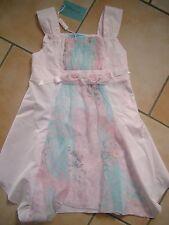 (31) Miss Blumarine Girls Kleid mit Seide & Rosen Besatz & Logo Stickerei gr.140