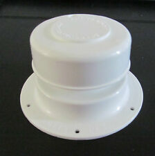 "White Plastic Plumbing Sewer Vent Cap 1"" to 2 3/8"" OD Pipe RV Trailer Camper"