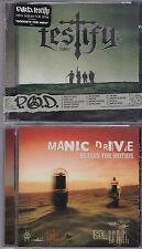 LOT OF 2 CD LOT *NEW RAPCORE CHRISTIAN P.O.D. TESTIFY + MANIC DRIVE Metal