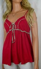 Anthropologie Ric Rac Red Baby Doll Halter Top Size Small