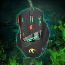 PC Professional Wired Gaming Mouse 7 Buttons 5500DPI USB Optical LED Mouse Mice