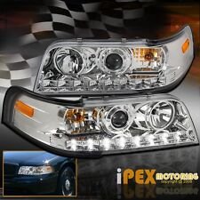 1998-2011 Ford Crown Victoria Projector LED Chrome Headlight Corner Signal Light
