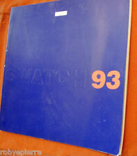 Catalogo orologi orologio SWATCH 1993 Another year another chapter catalogue