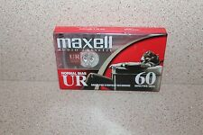 Maxell UR60 NEW & SEALED audio cassette Normal Bias 60 minutes