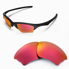 New Walleva Fire Red Replacement Lenses For Oakley Half Jacket XLJ Sunglasses