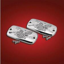 Chrome Master Cylinder Covers (2) Free Spirit for Honda Goldwing GL1800 (all)