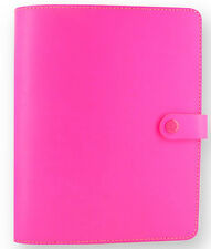 Filofax 'The Original' A5 Leather Fluorescent Pink Organiser 2017 Diary 022439