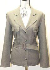 Trafaluc By Zara Winter Collection Women Safari Jacket Coat Taupe Sz 10 W Belt