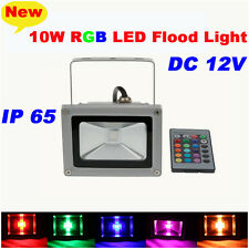 DC12V 10W RGB LED Flood Spot Light Lamp Outdoor Waterproof Pool Yard Landscape