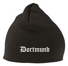 Dortmund Mütze Beanie - Edel Bestickt - Stitch - Bundesliga Fussball Fan