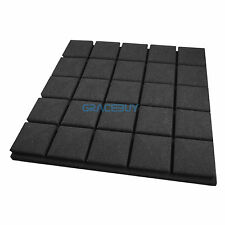 12 Pack Acoustic Panel Foam Tiles Studio Soundproof Treatment Sponge 50x50x5 cm