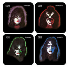 DRINK COASTERS - KISS Solo Albums Stanley Simmons Criss Frehley Set of 4 glossy