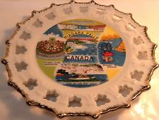 Vintage Decorative Plate NIAGARA FALLS CANADA Assiette Decorative CHUTES NIAGARA