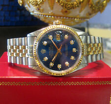 Mens ROLEX Oyster Perpetual Datejust Diamond Dial Stainless Steel & Yellow Gold