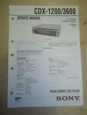 Sony Service Manual~CDX-1200/3600 CD Compact Disc Player/Receiver~Original