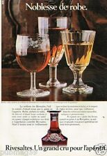 Publicité advertising 1980 Vin apéritif Rivesaltes