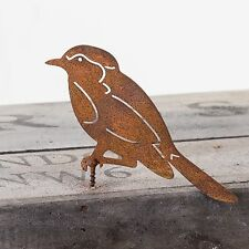 RUSTY METAL BLUE TIT WALL ART FOR GARDEN FENCE, SHED OR PERGOLA