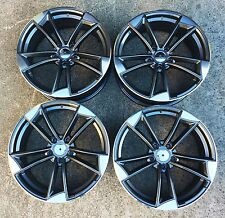 "18"" GUNMETAL POLISHED ALLOY WHEELS 5X112 FITS VOLKSWAGEN VW GOLF MK5 MK6 TDI FSI"