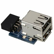 9Pin Motherboard to Double Layer 2 Ports USB2.0 A Female Internal Header Adapter