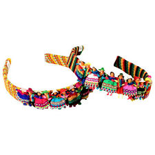 12 Worry Doll  Headband Hair Tie Head Accessory Wholesale Pack Assorted Peru New