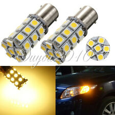 2x 1156 BA15S P21W 27 SMD 5050 LED Car Turn Signal Rear Light Bulb Amber/Yellow