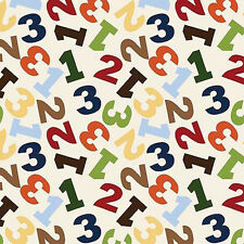Jungle 1 2 3 numbers Toss 100% cotton fabric by the yard