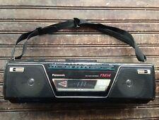 Vintage PANASONIC Portable Stereo Boombox Cassette Player Radio Model RX-FM14
