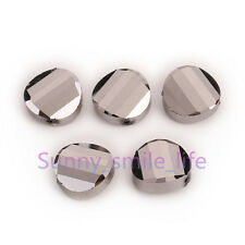 Charms Jewelry Faceted Glass Crystal Twist Tile Beads Spacer Findings 14mm