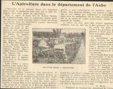 10 L' APICULTURE DANS L' AUBE ARTICLE DE PRESSE PAR P. BAZIN 1924