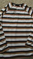 NEW SEAN JOHN STRIPED HENLEY SHIRT MENS M LONG SLEEVED FREE SHIP