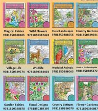 DOODLE DESIGN, ADULT COLOURING 12 BOOK SET - ART THERAPY - New