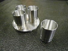 """SHOT GLASS SET CUSTOM CNC MACHINED SNAP-ON SOCKET REPLICA """"SET OF 4 WITH TRAY"""""""