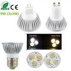 Dimmable Epistar LED Lamp Bulb MR16 GU10 E27 Warm Cool Ceiling Light 9W (3x3W)