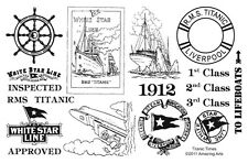 UM Titanic Times set of 17 rubber stamps Amazing Arts