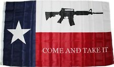 Texas COME AND TAKE IT Flag 3x5 ft M4 2nd Amendment Gun Owner Battle of Gonzales
