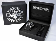 Affliction - GENTS CHRONOGRAPH - Men's Watch - NEW - AF3612 -  Steel / Black