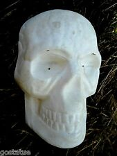 "skull plastic mold plaster mold cement mould 7"" x 4"" x 2"" Hallowen concrete mold"