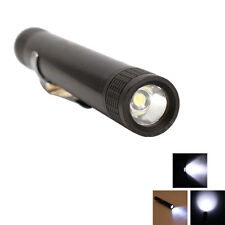 New Mini Pen-type MXDL 3W Led AAA Flashlight Torch Lamp Black