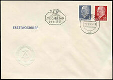 East Germany 1961, 5pf, 20pf Definitives FDC First Day Cover #C32842