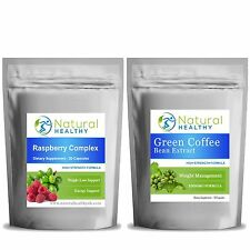 Green Coffee 1000mg + Raspberry Complex Capsules weight loss slim fast pack