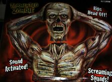 VHTF ANIMATED HALLOWEEN SPIRIT TORMENTED ZOMBIE Prop Rips His Head Off IN BOX