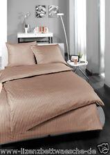 Estella Mako satén ropa de cama labinot maron 80x80 + 135x200 cm