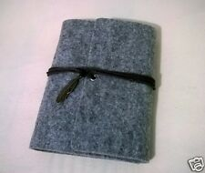 Vintage Retro Classic Grey Soft Felt Cover Blank Paper Journal Diary Note Book