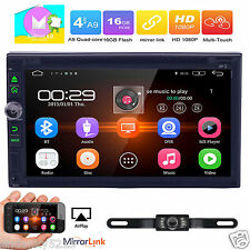 "7"" Double 2 DIN Android 6.0 Quad-Core Car GPS Stereo DVD Player Wifi 3G BT Radio"